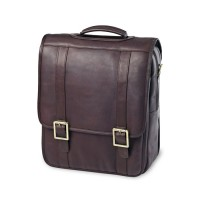 Leather Upright Porthole Briefcase Backpack