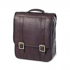 Leather Upright Porthole Briefcase Backpack