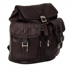 Medium Drawstring Backpack With Two Front Pockets