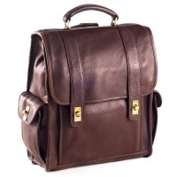 Turnlock Leather Backpack