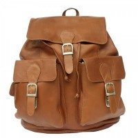 Large Buckle-Flap Backpack